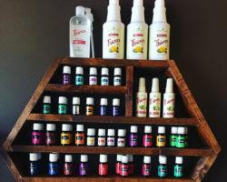 Fully restocked Essential Oil shelf!